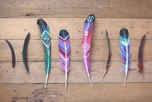 Diy painted feathers for Synthetic feathers for crafts