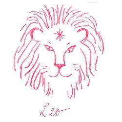 leo star sign illustration