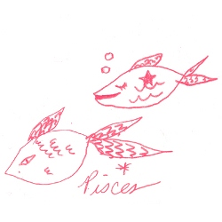pisces star sign illustration