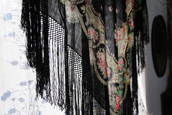 Printed Fringe Curtain