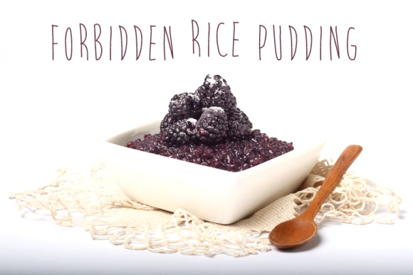 Post image for Recipe: Purple Forbidden Rice Pudding