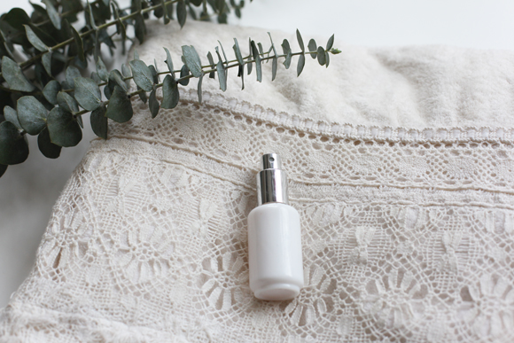 Lace Towel, Eucalyptus, and Perfume Spray Bottle