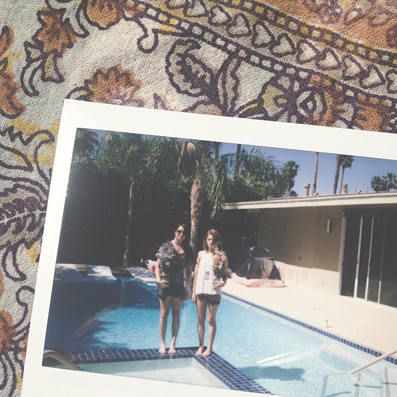 Poolside Polaroid