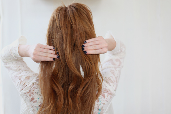 Red hair, nails