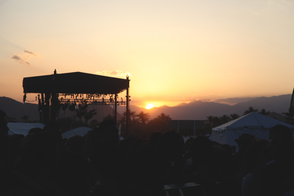coachella local natives sunset