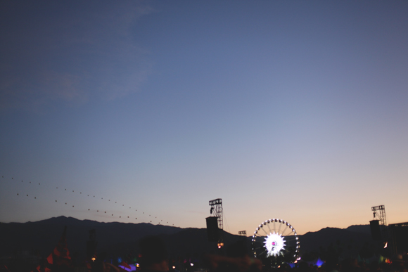 coachella at dusk ferris wheel