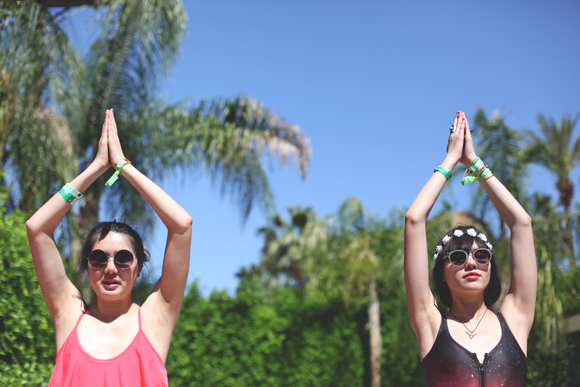 coachella yoga outside