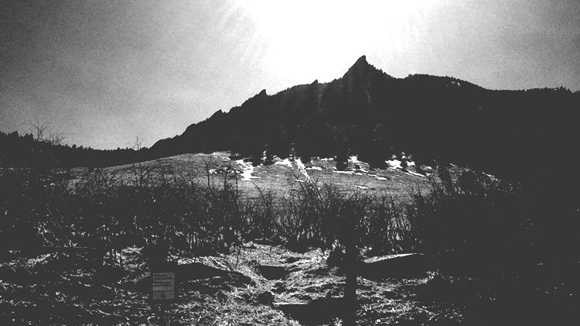 black-and-white-mountain
