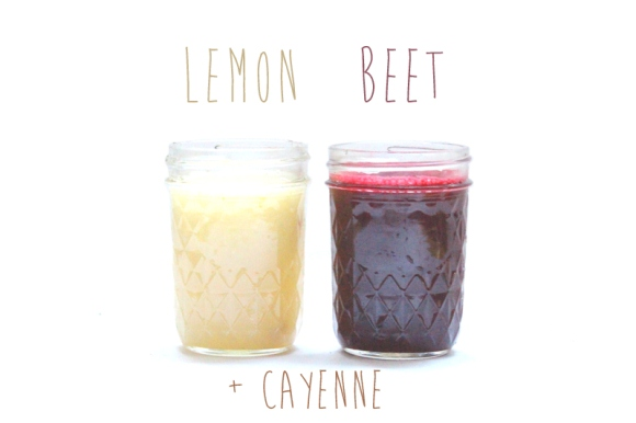 lemon and beet juice