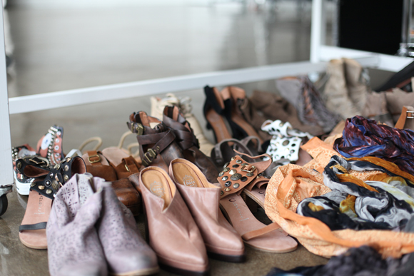 Free People shoes and scarves