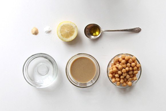 Ingredients - Basic Hummus Recipe