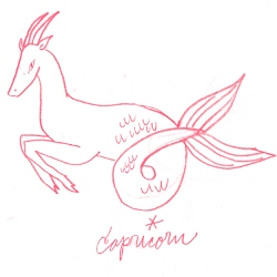 capricorn zodiac symbol illustration