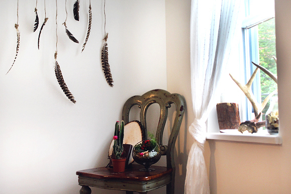 Top DIY Feather Wall Hanging JC73