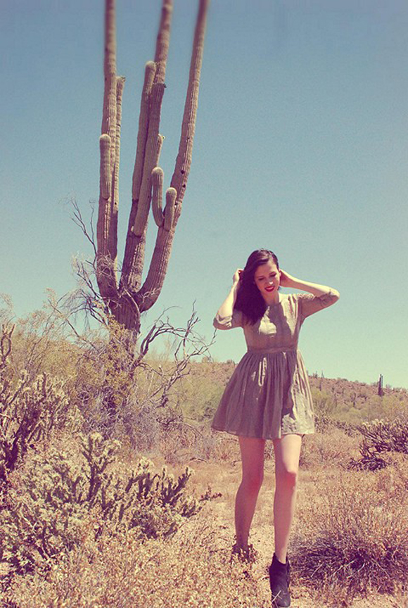 fp me girl in front of cactus