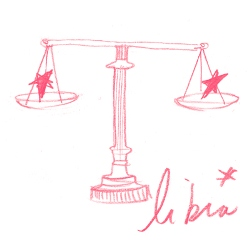 libra zodiac symbol illustration