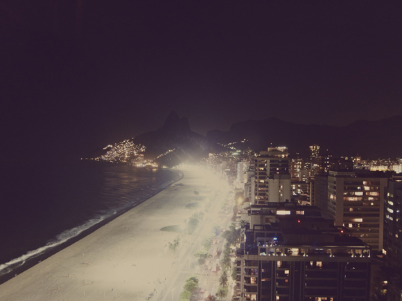 rio brazil at night