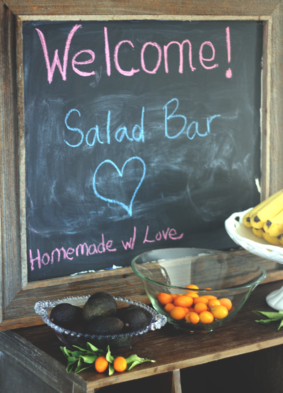 salad bar chalkboard
