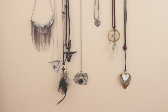 Hanging necklaces