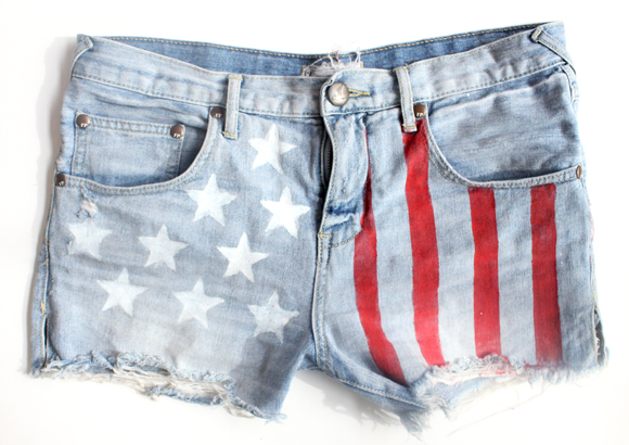 Post image for American Flag Shorts DIY