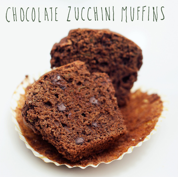 Post image for Whole-Grain Chocolate Zucchini Muffins