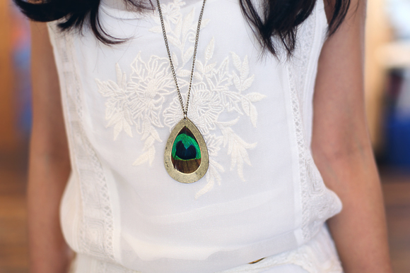 office style peacock necklace