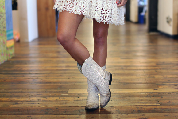 office style white boots