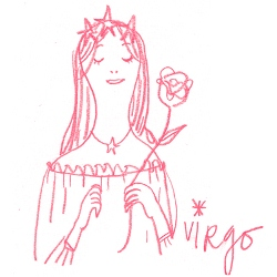 virgo zodiac sign illustration