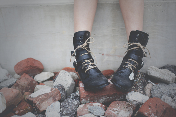 Boots with twine