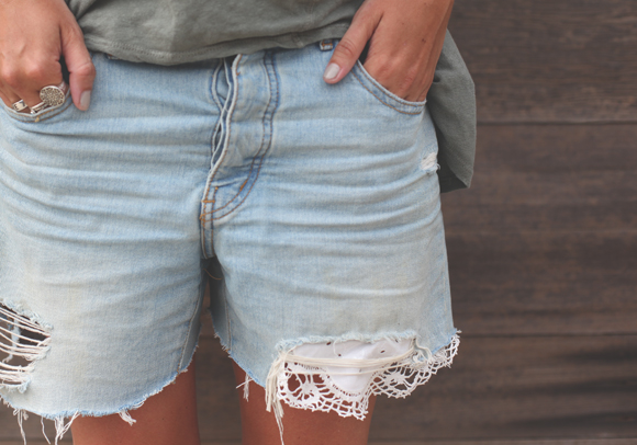 Post image for DIY Patching Denim With Lace