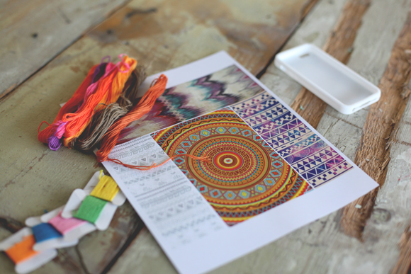 embroidery thread, aztec prints