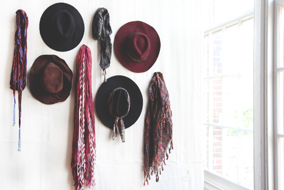 fedoras and scarves