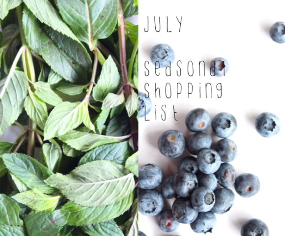 Post image for July Seasonal Shopping List