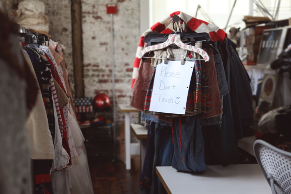 vintage clothes on a rack