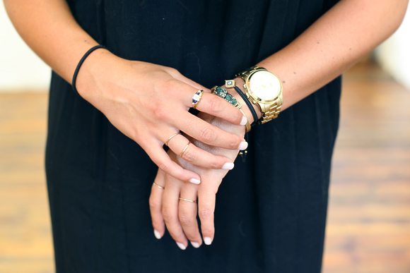 gold bracelets and rings