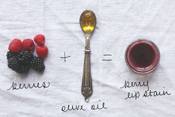 DIY berry lip stain