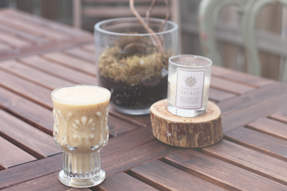 Smoothie on wooden table