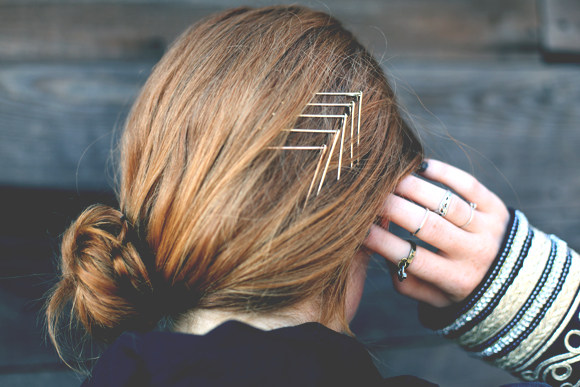 bobby pin chevron