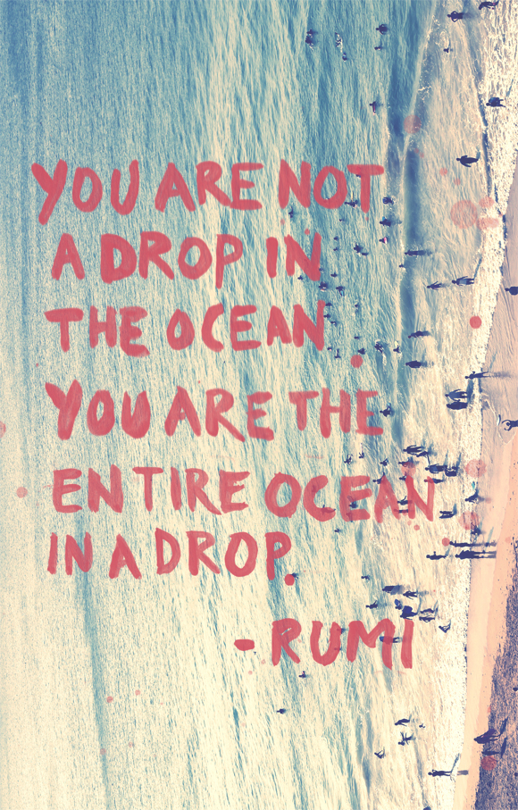 Post image for Monday Quote: You Are The Entire Ocean