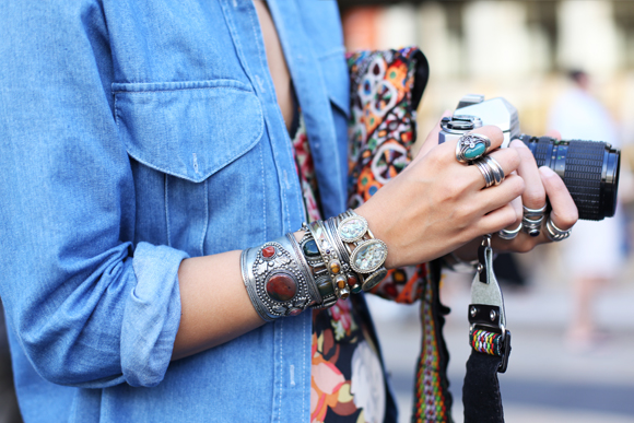 NY Fashion Week – bohemian jewels, camera