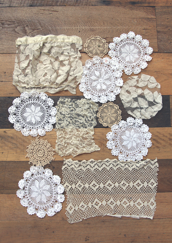 lace doily curtain