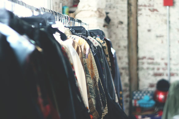 vintage clothes on rack