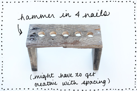 Hammer in 4 nails
