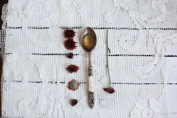 Spoon and flowers