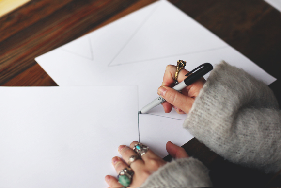 drawing out triangles
