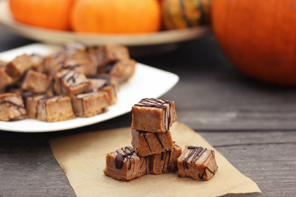 Post image for Vegan Pumpkin Spice Almond Butter Fudge (Gluten-Free)