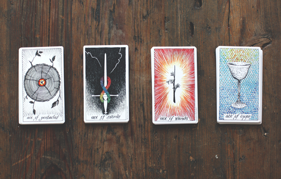 reading tarot cards