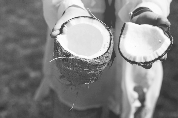 Black and white coconut