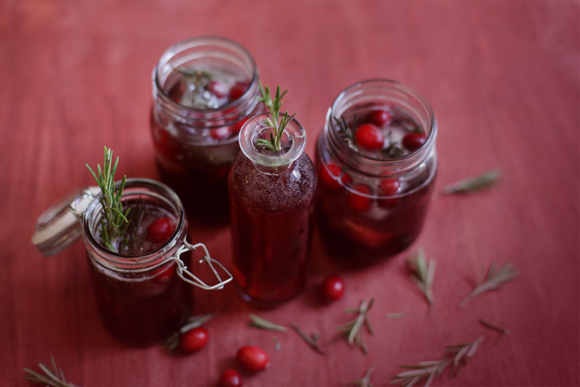 Post image for Cranberry, Pomegranate, & Green Tea Holiday Spritzer