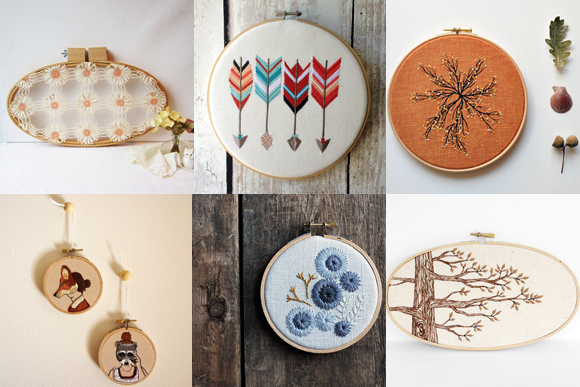 Post image for Embroidery Hoop Art From Etsy