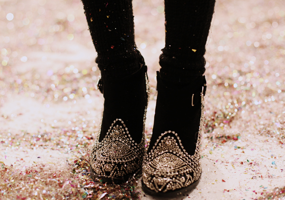 shoes and glitter